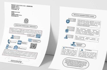 JFRN adota elementos visuais em mandado de citação e intimação de penhora